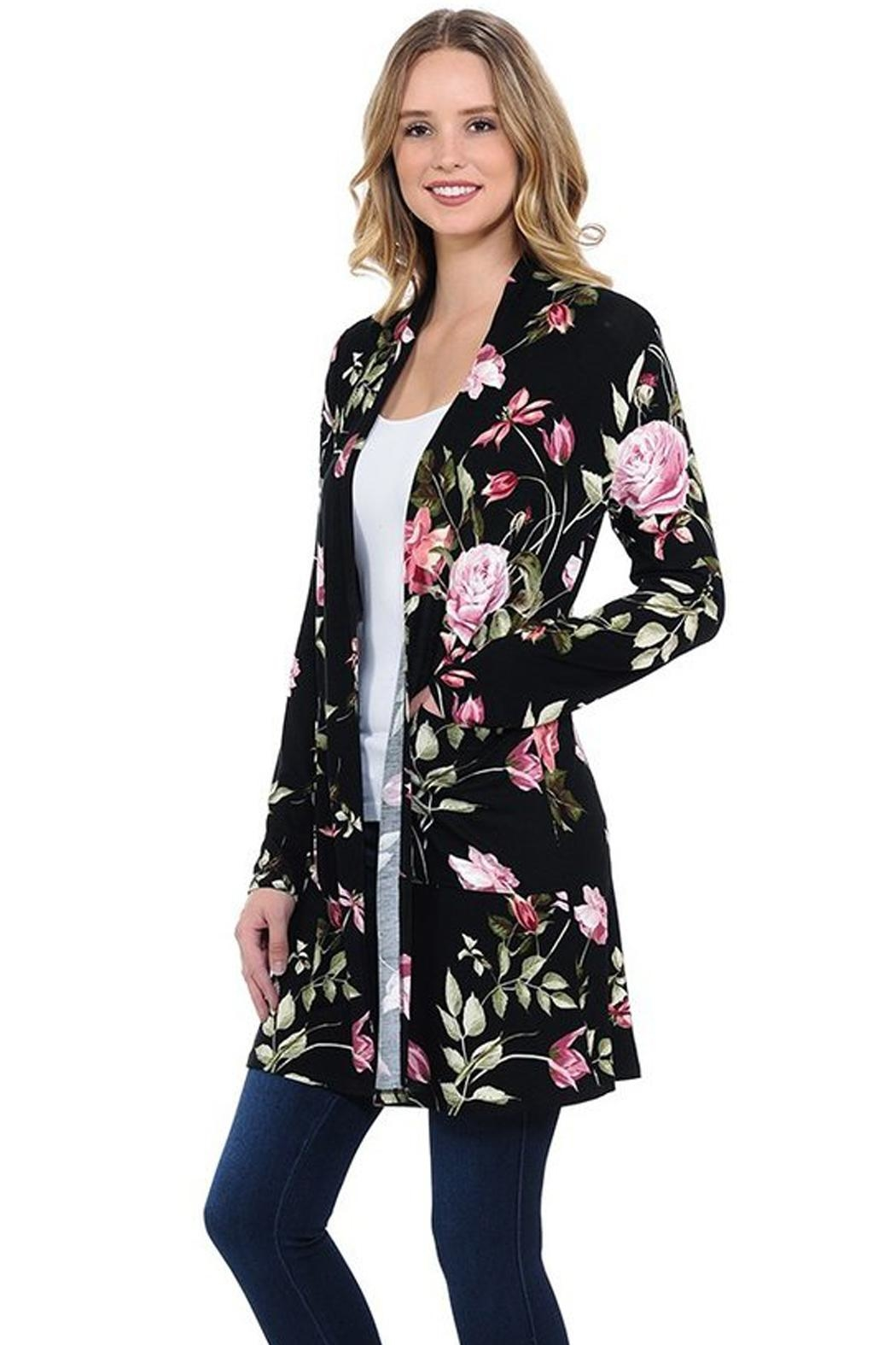 LUNA Beautiful Floral Cardigan - Main Image