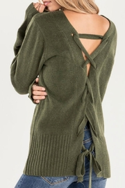 Miss Me Green Lace Back - Front full body