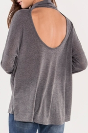 Miss Me Grey Cutout-Back Turtleneck - Front cropped