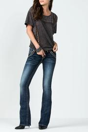 Miss Me High Noon Bootcut Jeans - Product Mini Image
