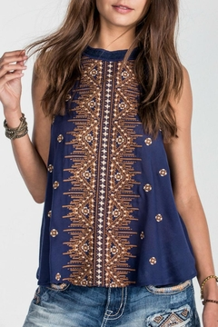 Miss Me Indy Navy Sleeveless Blouse - Product List Image