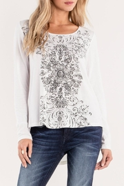 Miss Me Lace-Up Detailed Top - Product Mini Image