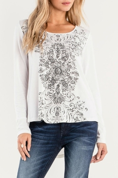 Miss Me Lace-Up Graphic Baseball-Tee - Product List Image