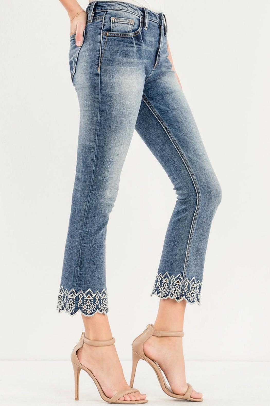 Miss Me Crop Boot Cut - Front Full Image
