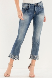 Miss Me Lux-Life Mid-Rise-Crop Boot-Cut-Jeans - Product Mini Image