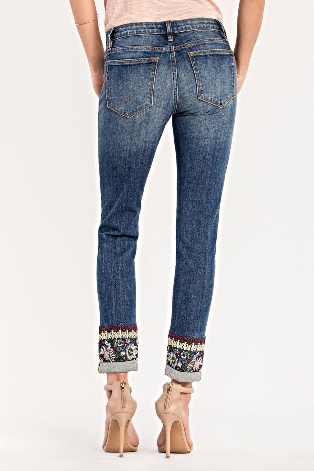 Miss Me Mid Rise Skinny Jeans - Side Cropped Image