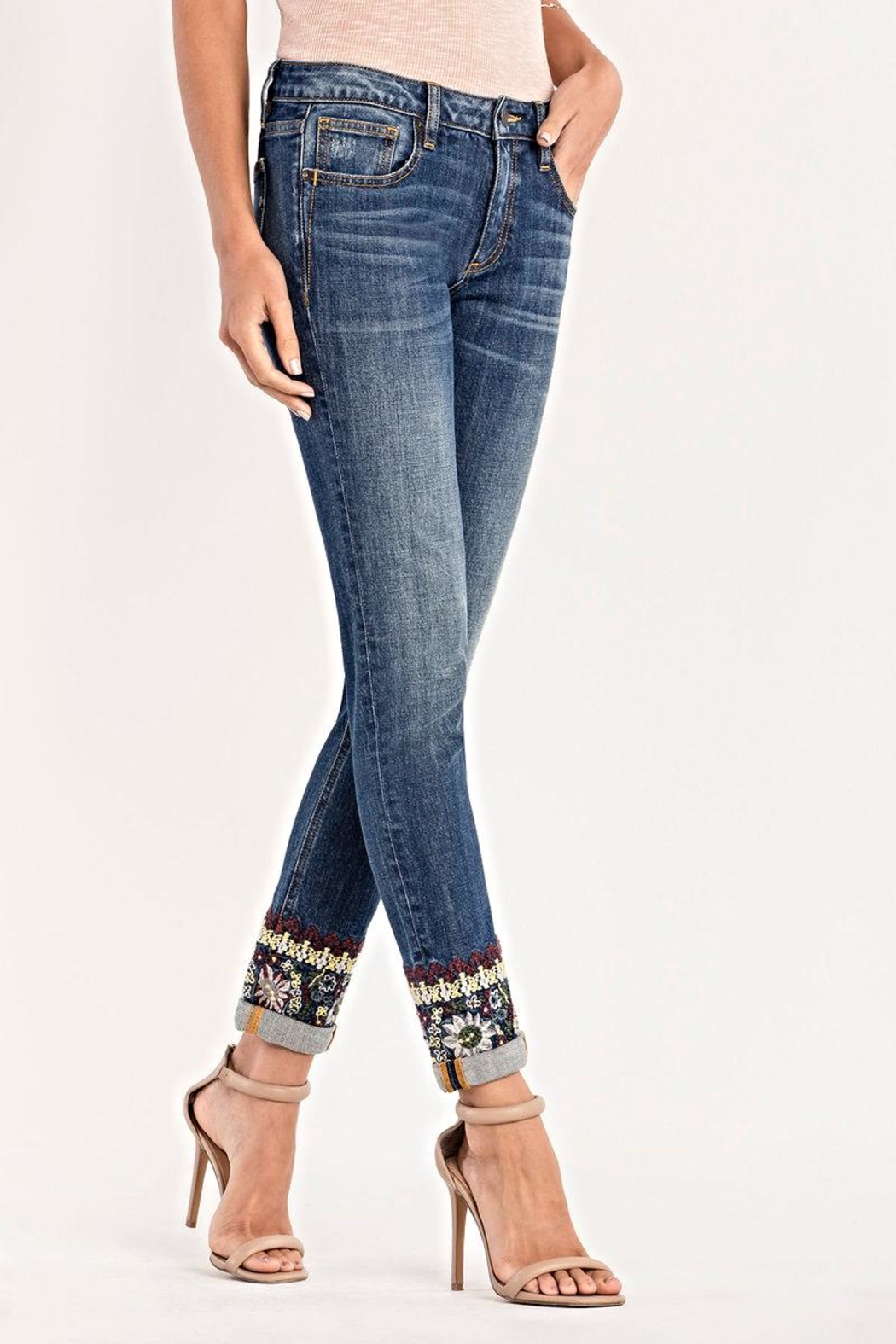 Miss Me Mid Rise Skinny Jeans - Main Image