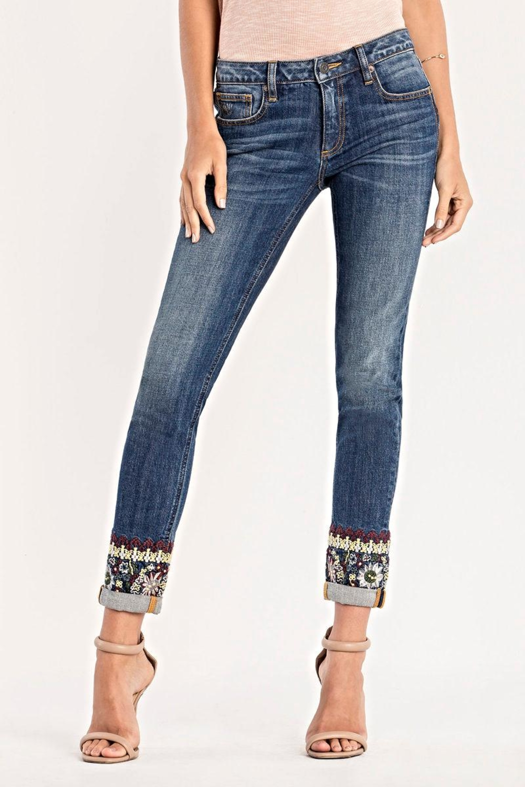 Miss Me Mid Rise Skinny Jeans - Front Full Image