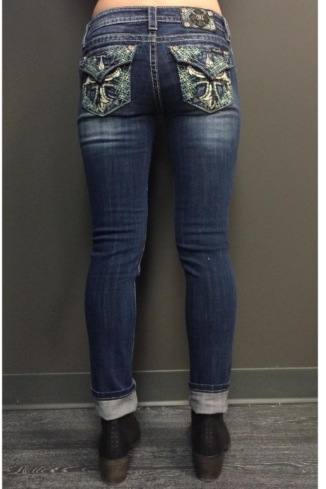 Miss Me Mid Rise Skinny - Front Full Image
