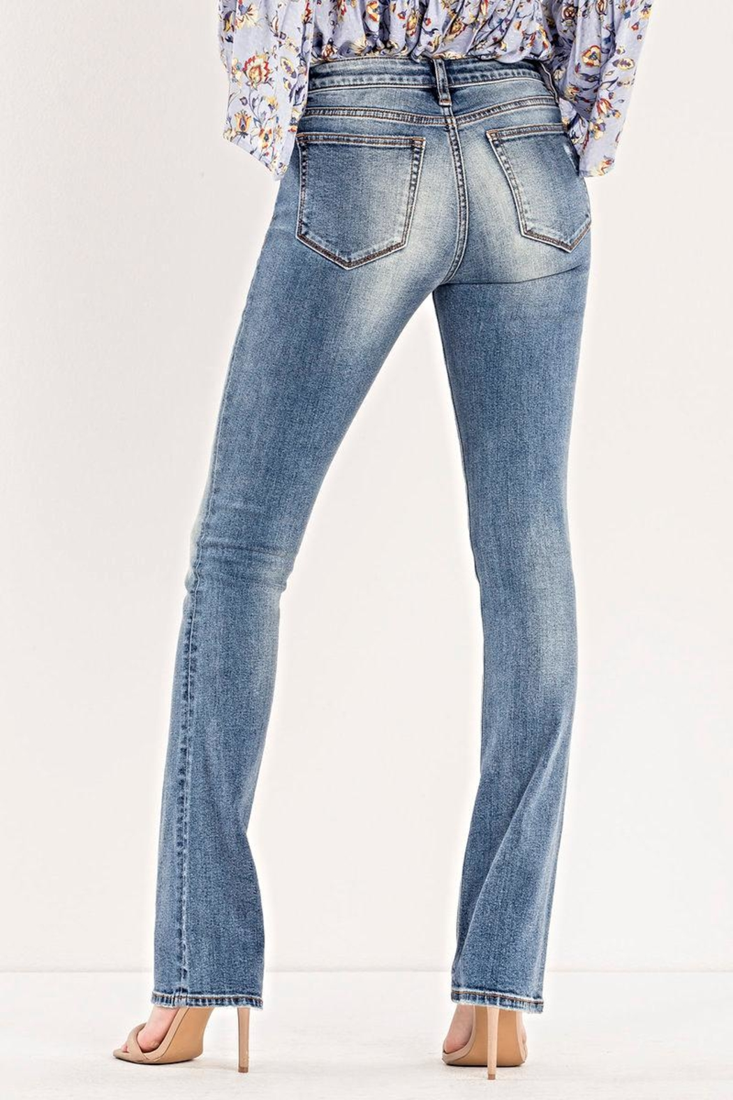 Miss Me Mid-Rise Slim Boot - Front Full Image