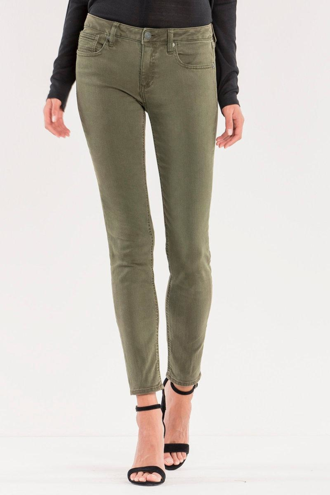 Miss Me Midrise Olive Skinny - Front Cropped Image
