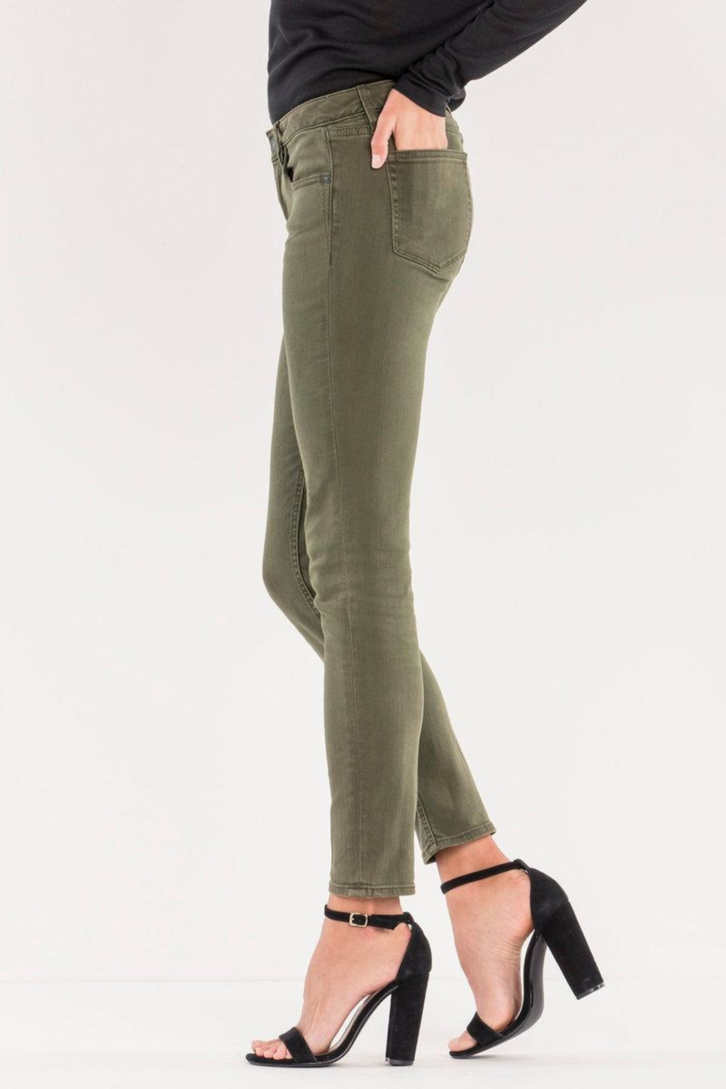 Miss Me Midrise Olive Skinny - Front Full Image