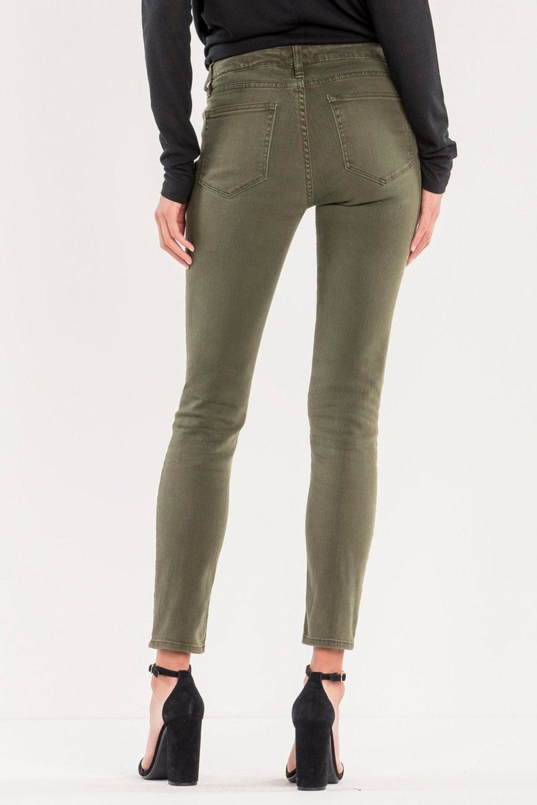 Miss Me Midrise Olive Skinny - Side Cropped Image