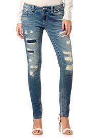 Miss Me Midrise-Patchwork Distressed Skinny - Product Mini Image