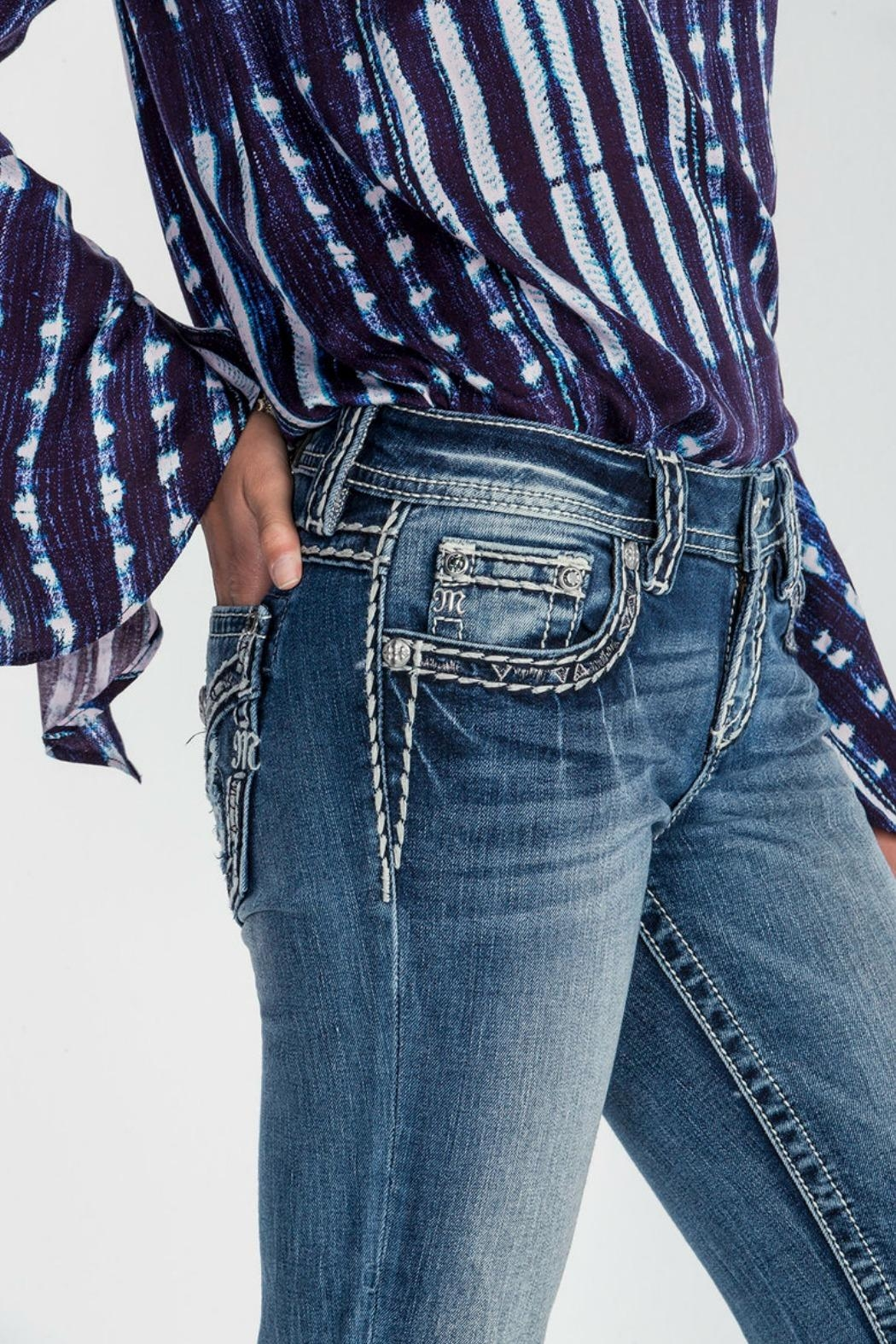 Miss Me Breakthrough Slim Boot Cut Jeans - Back Cropped Image