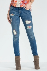 Miss Me Patched Skinny Jeans - Product Mini Image