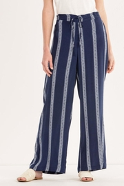 Miss Me Navy-Striped Palazzo Pants - Product Mini Image