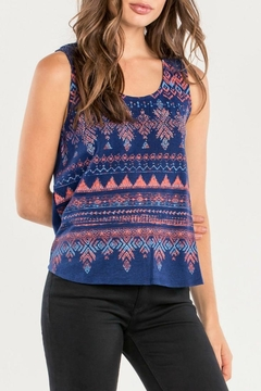 Miss Me Navy Tribal Tank - Product List Image