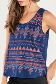 Miss Me Navy Tribal Tank - Front cropped