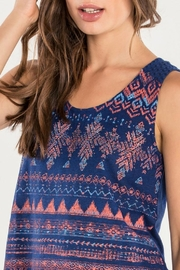 Miss Me Navy Tribal Tank - Back cropped