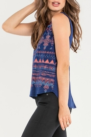Miss Me Navy Tribal Tank - Side cropped