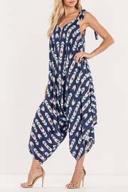 Miss Me Navy Tribe Jumpsuit - Side cropped
