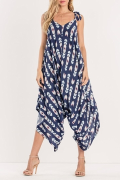 Miss Me Navy Tribe Jumpsuit - Product List Image