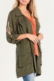 Miss Me Olive Embroidered Utility Jacket - Other