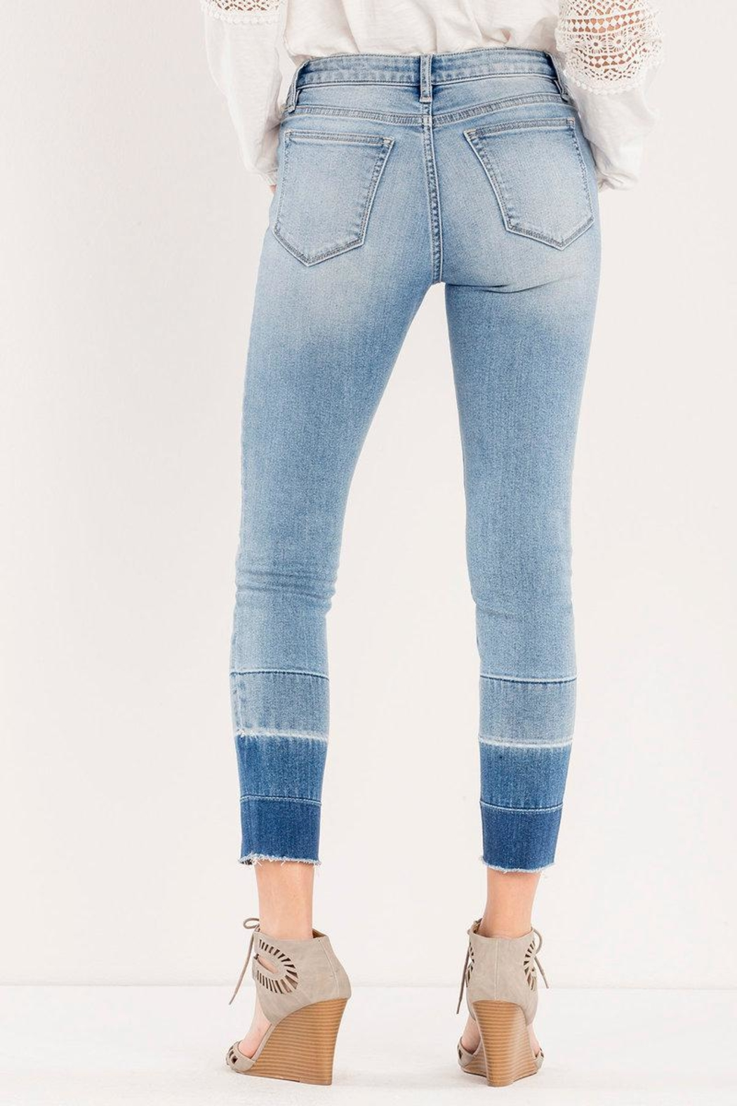 Miss Me Ombre Released-Hem Ankle-Skinny - Side Cropped Image