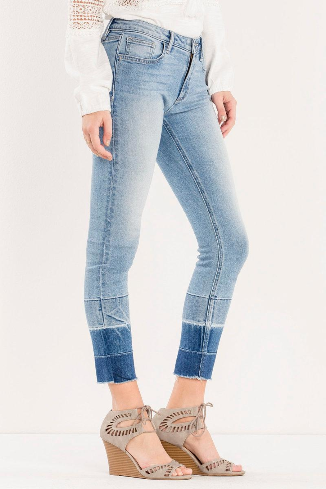 Miss Me Ombre Released-Hem Ankle-Skinny - Front Full Image