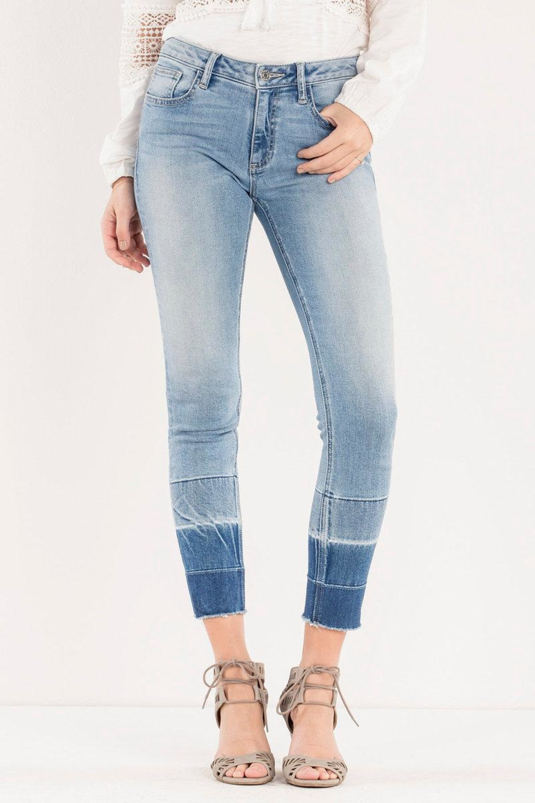 Miss Me Ombre Released-Hem Ankle-Skinny - Main Image