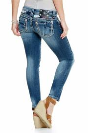 Miss Me Patch Work Skinny - Front full body
