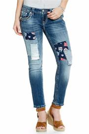 Miss Me Patch Work Skinny - Front cropped