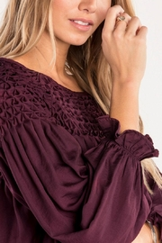 Miss Me Plum Ruffle Top - Other