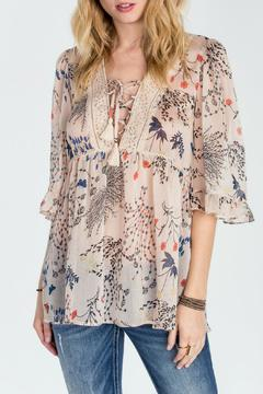 Shoptiques Product: Printed Bell Sleeve