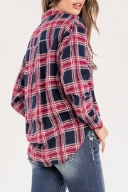 Miss Me Red Studded-Plaid Top - Side cropped