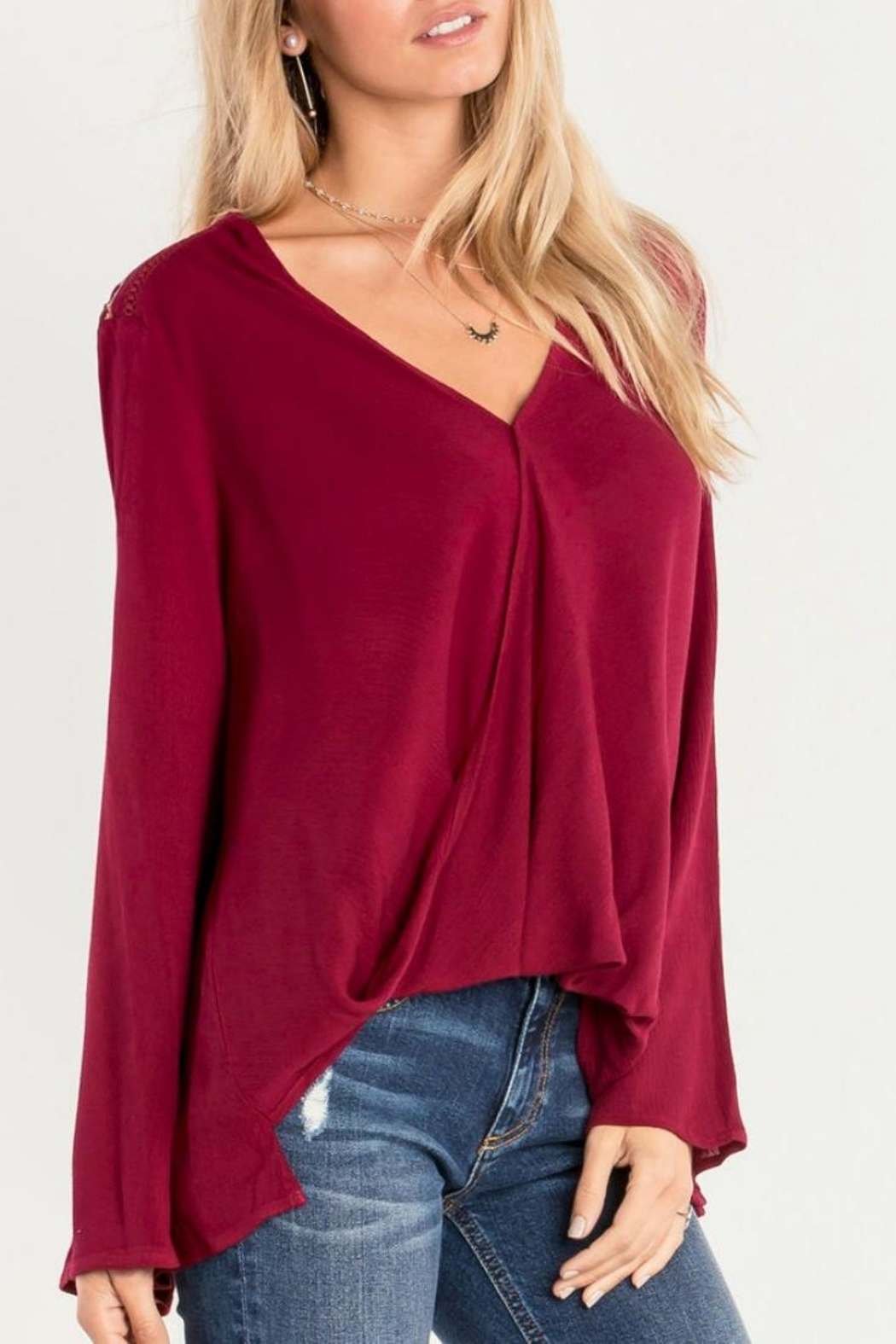 Miss Me Red Swing Blouse - Main Image