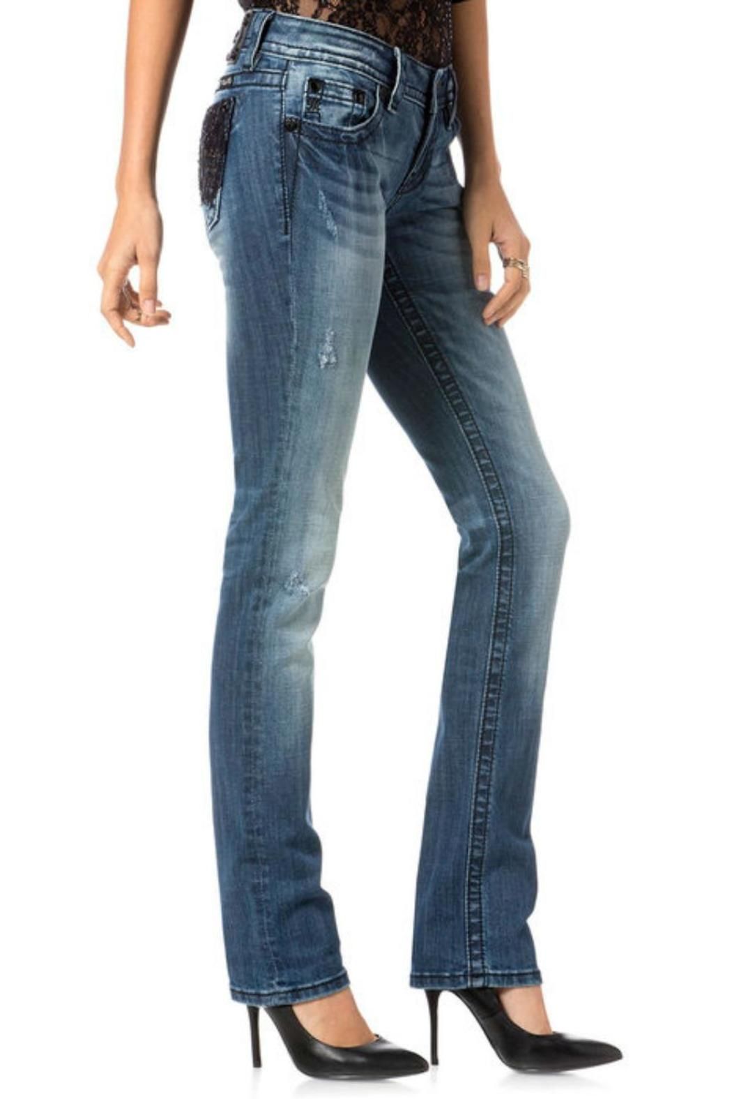 Miss Me Romance Straight Jeans - Side Cropped Image