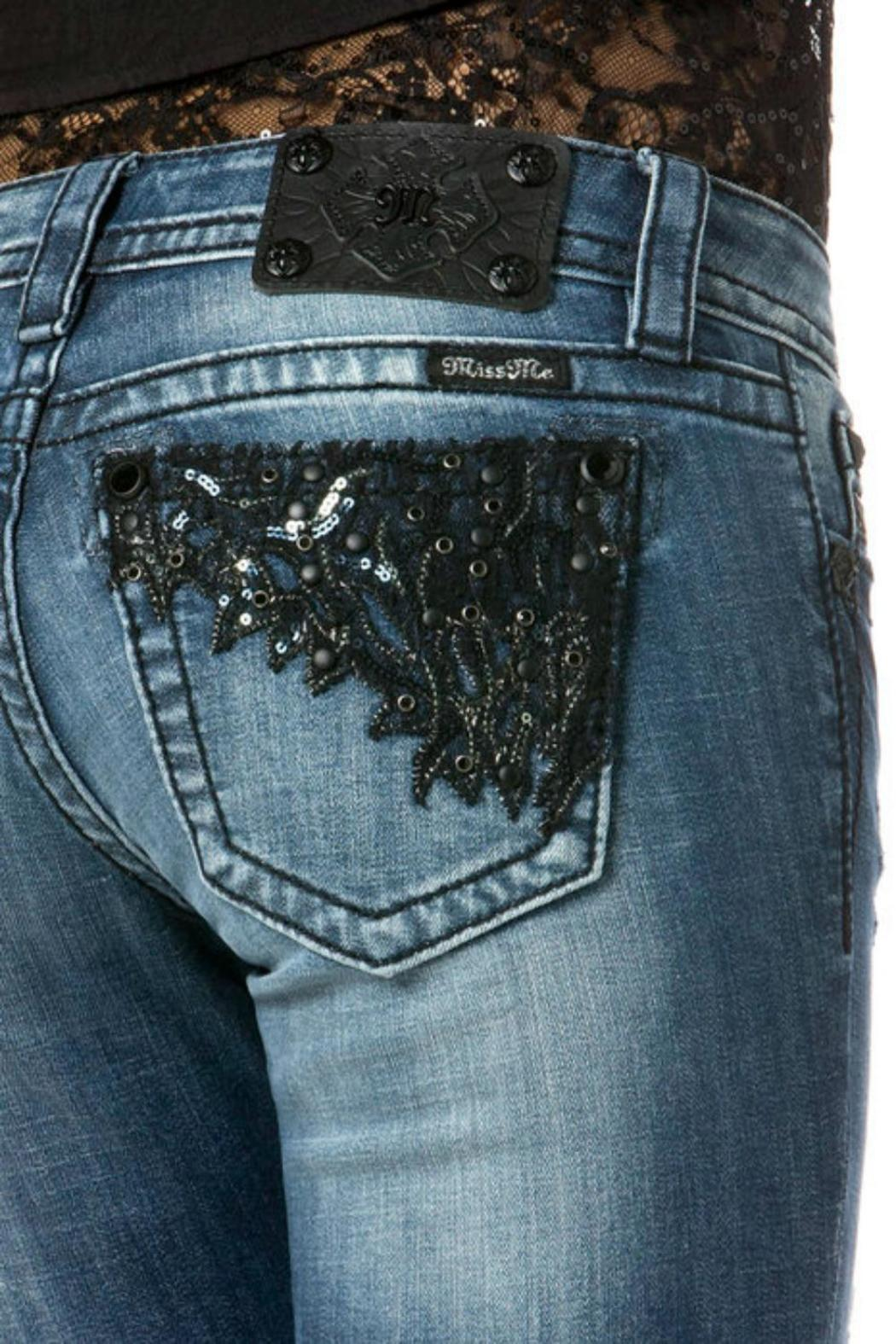 Miss Me Romance Straight Jeans - Front Full Image