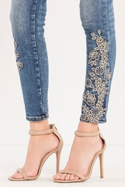 Miss Me Rose-Embroidered Midrise Ankle-Skinny - Other