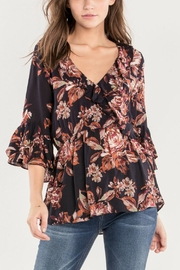 Miss Me Rosey Ruffle Blouse - Product Mini Image