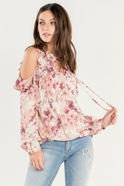 Miss Me Ruffle Cold-Shoulder Top - Other