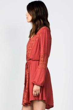 Miss Me Rust Embroidered Dress - Alternate List Image