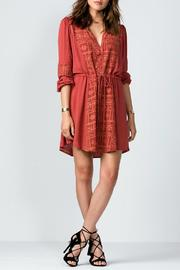 Miss Me Rust Embroidered Dress - Product Mini Image