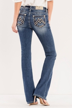 Shoptiques Product: Signature Embroidered Midrise-Bootcut