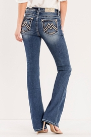 Miss Me Signature Embroidered Midrise-Bootcut - Product Mini Image