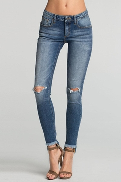Miss Me Hem Distressed Skinny Jean - Product List Image