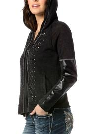 Miss Me Studded Rebel Hoodie - Front full body
