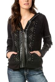 Miss Me Studded Rebel Hoodie - Front cropped