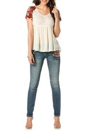 Miss Me Sweet Rose Skinny - Back cropped
